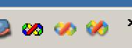 Visual Studio のアイコン(右からVS6, VS2003, VS2005)